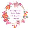 rahmen mit blumen design 100x100 - Persönliche Affirmations-Tasse