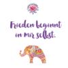 """frieden beginnt in mir selbst affirmation 100x100 - """"Freiheit & Frieden"""" - Tasse"""