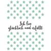"""Affirmation """"Ich bin glücklich und erfüllt"""" mit grünen Sternchen-Muster"""