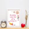 """Poster """"Ich vertraue meinem Kind und es vertraut mir"""" im Rahmen (Beispiel)"""