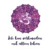 """Affirmation """"Ich bin verbunden mit allem Leben"""" mit Kronen-Chakra Symbol"""