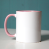 """rosa tasse 100x100 - """"Ich bin glücklich und erfüllt"""" - Tasse"""